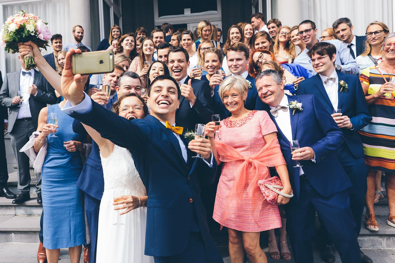 huwelijk selfie familie