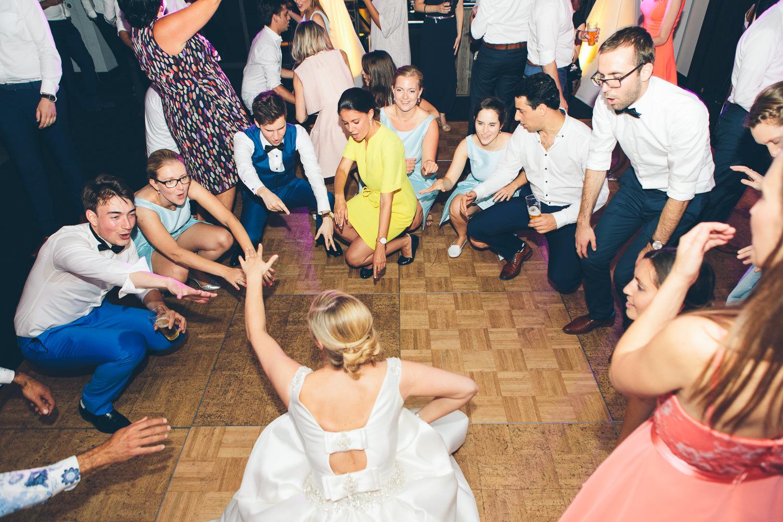 huwelijk auberge du pecheur dansvloer
