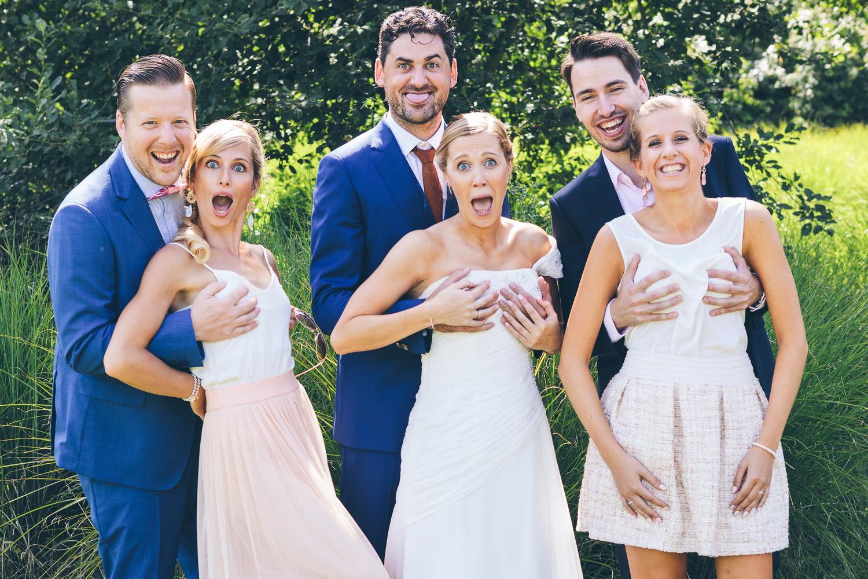 huwelijk groepsfoto fun origineel